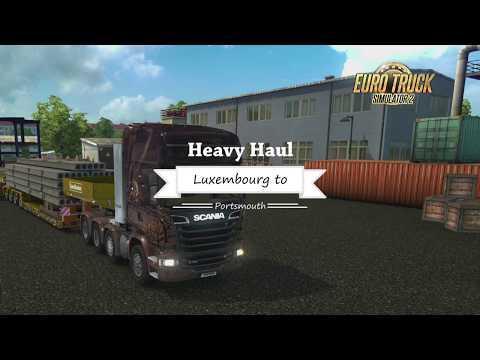 Euro Truck Simulator 2 -  Luxembourg, Belgium to Portsmouth, UK