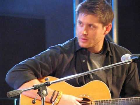 """Jensen Ackles @ JIB sings """"The Weight"""" - YouTube"""