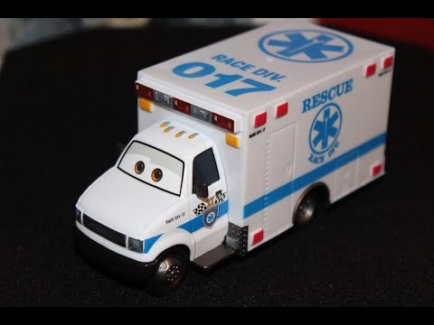 Cars 30k >> Mattel Disney Cars 3 Super Chase Morgan Martins (Ambulance) Deluxe Die-cast - YouTube