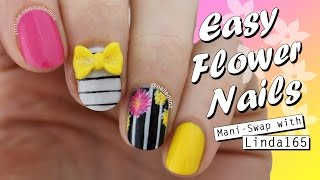 Mani-Swap with Linda165 ♥ Easy Flower Nail Art | Nailed It NZ