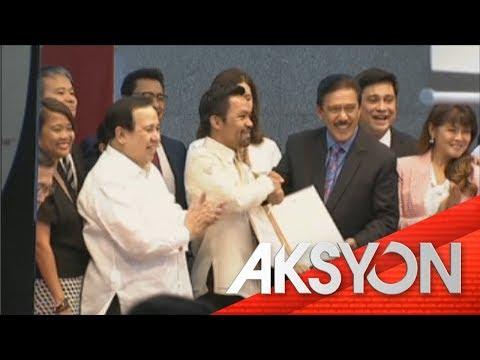 Manny Pacquiao, kinilala sa Senado matapos ang Thurman fight