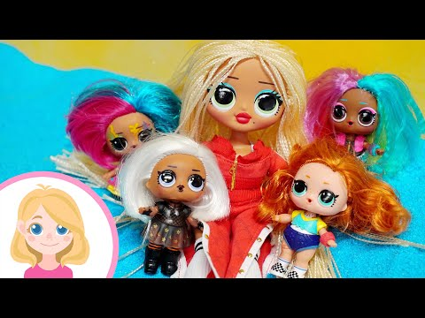 Девочка кукла LOL ищет своих сестер - Маленькая Вера и её игрушки подружки