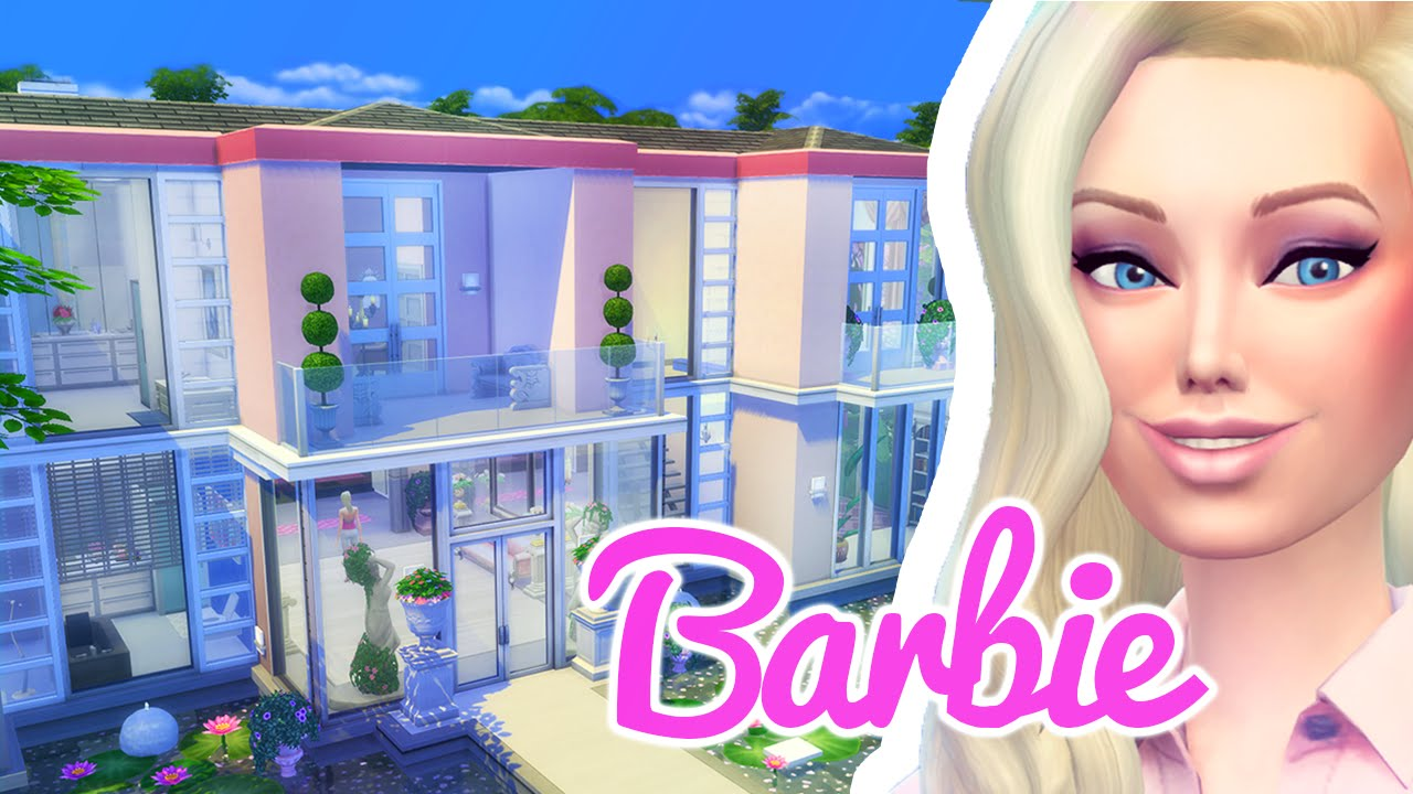 The barbie dreamhouse the sims 4 build viyoutube for Dream house builder