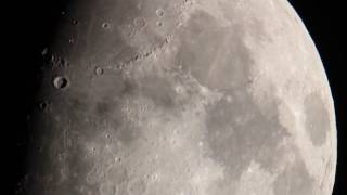 Moon through Telescope (Plane Transit)
