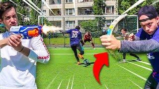 ABLENKUNGS ELFMETER FUßBALL CHALLENGE!!!