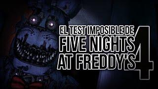 ¡ El Test Imposible De Five Nights At Freddy'S 4 ! | Bersgamer