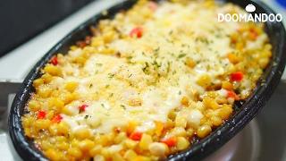 싸고 맛있는 안주요리 콘치즈 Korean Cheese Corn コーン チーズ : 두만두 doomandoo