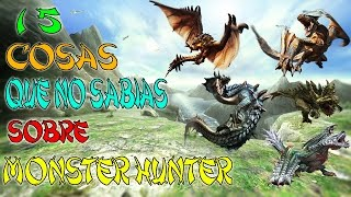 15 Cosas Que No Sabias De Monster Hunter [SAGA]