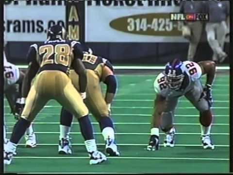 Michael Strahan Game Tape: 2001 vs Rams