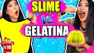 SLIME VS GELATINA #ESPECIALFIMDEANO | Blog das irmãs