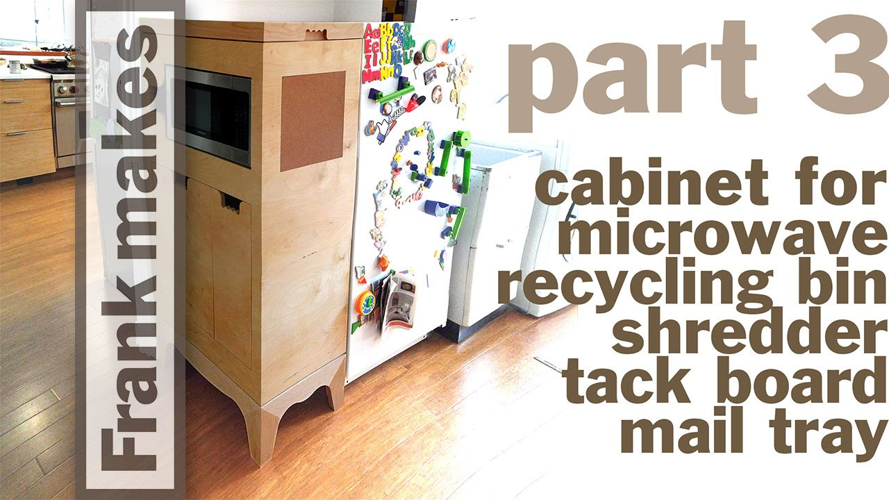 Microwave Recycling Bin Shredder Mail Tray Cabinet Part 3 Of