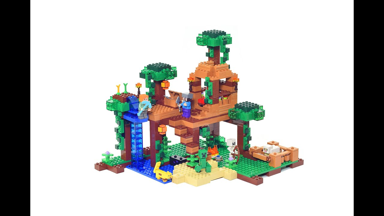 Lego Minecraft 21125 Jungle Tree House Review In Stop Motion