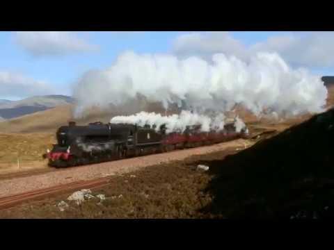 Steam Train West Highland Railway Line Highlands Of Scotland