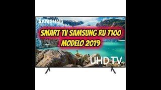 UNBOXING SMART TV SAMSUNG RU 7100 4K MODELO 2019 BRASIL