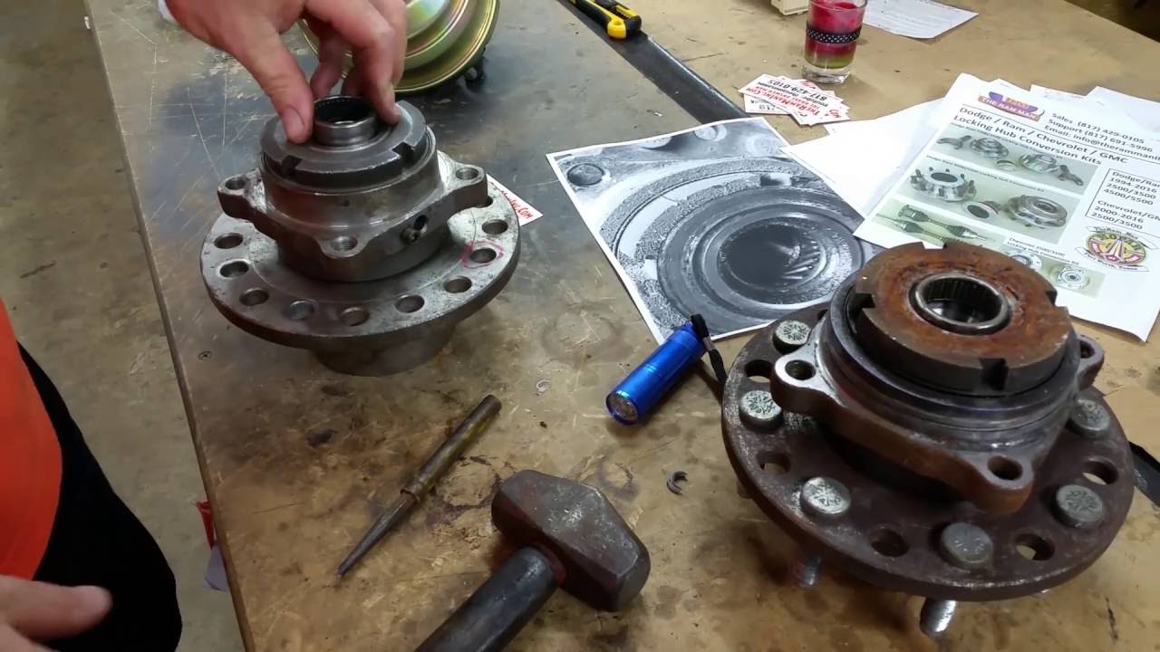 TRM LOCKING HUBS NEEDLE BEARING REPLACEMENT by