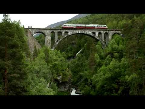 Eurail - Train route from Dombas to Andalsnes
