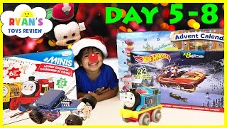 SURPRISE TOYS for Kids Christmas Thomas Trains Disney Hot Wheels Toy Cars Advent Calendar Day 5-8