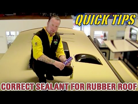 Correct Sealant to Use on Your Rubber Roof | Pete's RV Quick Tips