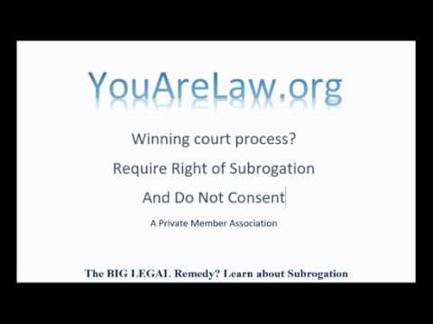 Stop A Court Case - Subrogation Concept Only - See updated notes below.