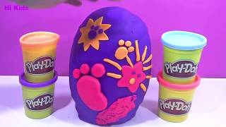 PLAY DOH SURPRISE EGGS PEPPA PIG 2018 TOYS lego dinosaur videos toys 2018