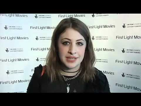Filmmaker Georgia Groome gives advice to young people at the First Light awards