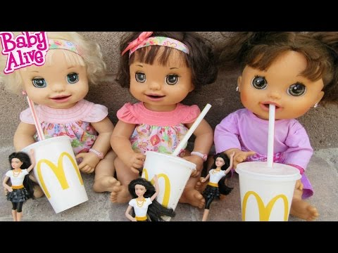 BABY ALIVE McDonalds Outing With Pumpkin, Ruby Snow & Margie McCabe!