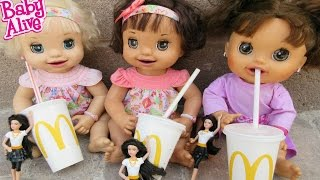 BABY ALIVE McDonalds Outing With Pumpkin, Ruby Snow & Margie McCabe!(We have so much fun with Baby Alive that we want to share our videos with you!! Come stop by!! New Video! Sorry about The whole