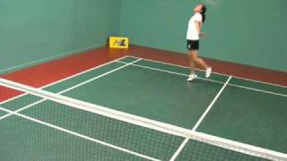 How to play Half Court Badminton 4