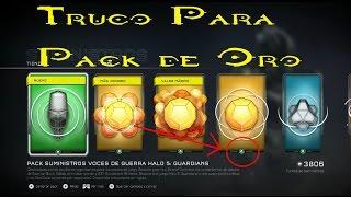 Halo 5 l Truco l Pack de Oro l Cosas Legendarias y Miticas