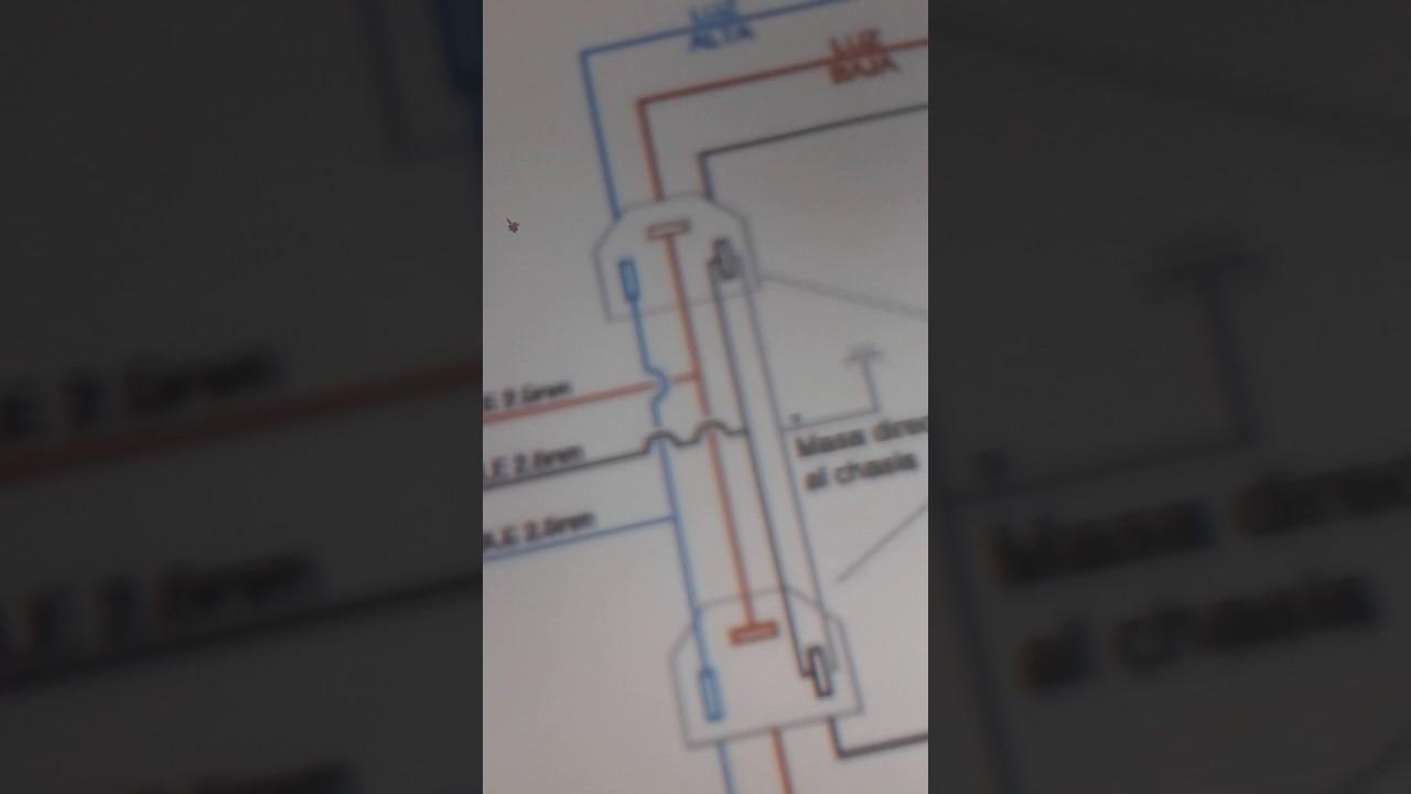 Circuito Electrico Simple Diagrama : Circuito electrico de luces bajas y altas de un vehiculo youtube