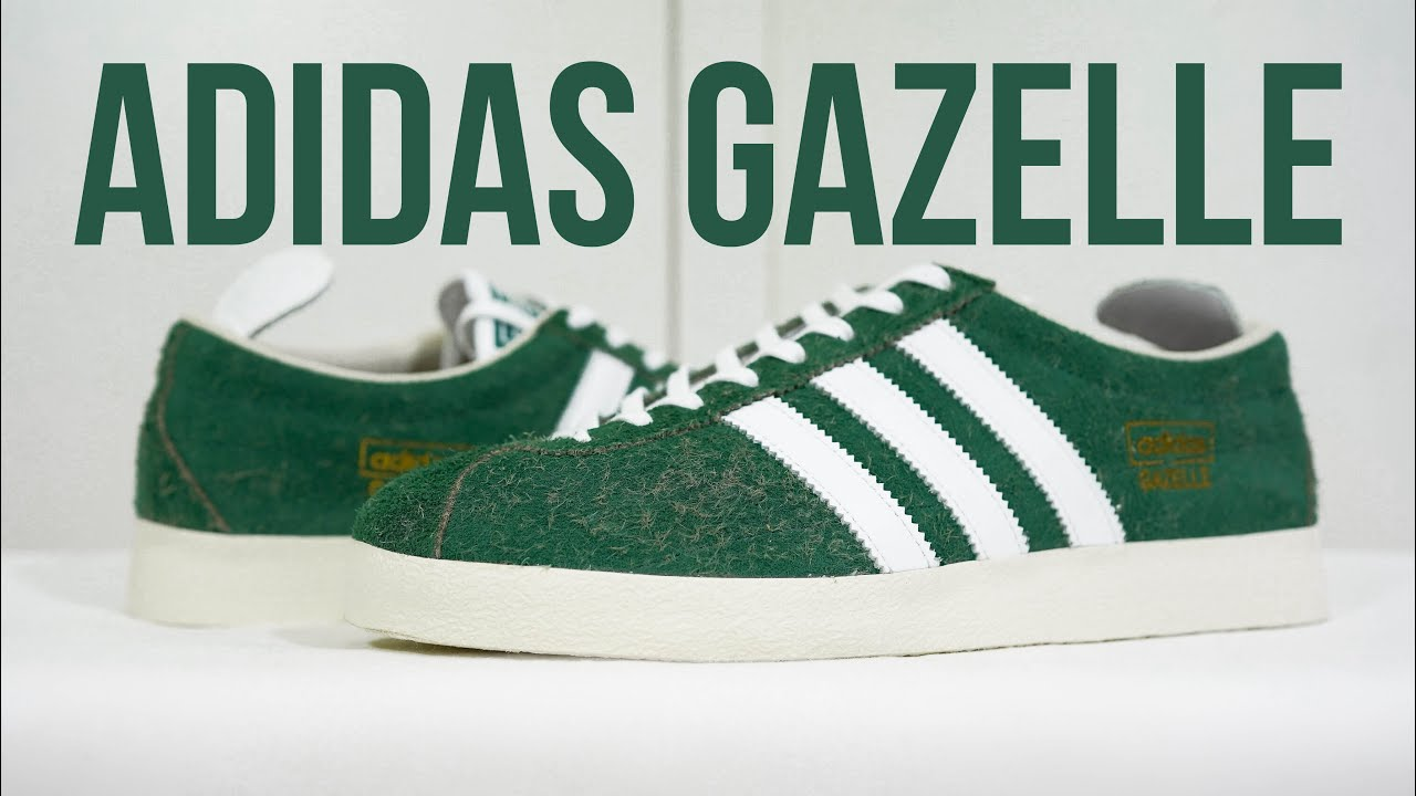 ADIDAS GAZELLE VINTAGE (green/white): Unboxing, review & on feet