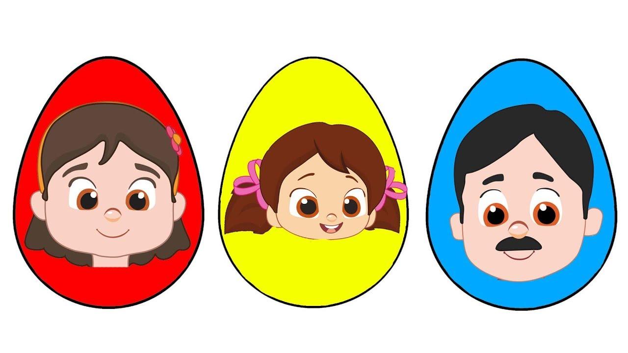 Niloya Çizgi Film Süpriz Yumurtalar Boyama Parmak Ailesi Çocuk Şarkıları Renkleri Öğreniyorum