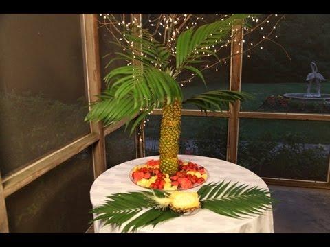 Pineapple Palm Tree Fruit Tray