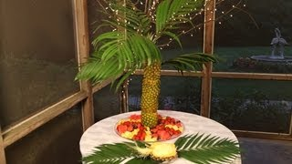 Pineapple Palm Tree Fruit Tray
