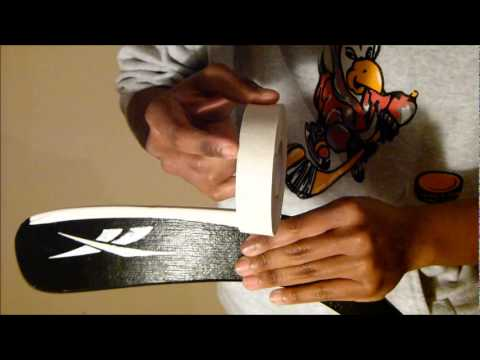 Example Of How To Tape A Hockey Stick and Blade - There is no correct or wrong way to do this!