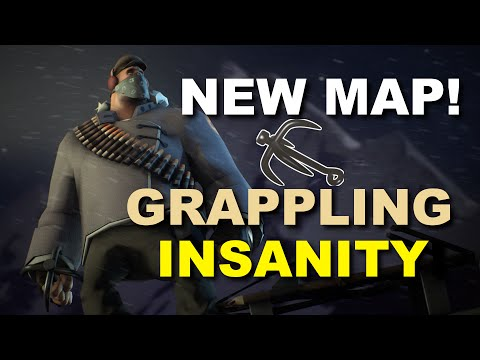 [TF2] New Map! Flying Ninja Heavy! GRAPPLING IS AWESOME!