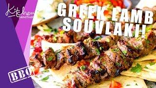 BBQ Lamb Souvlaki Kebabs