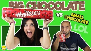 🍫Big Chocolate vs Small Chocolate!!Chocolate grande vs chocolate pequeño!!  Momentos Divertidos