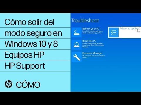 Cómo salir del modo seguro en Windows 10 y 8 | Equipos HP | HP