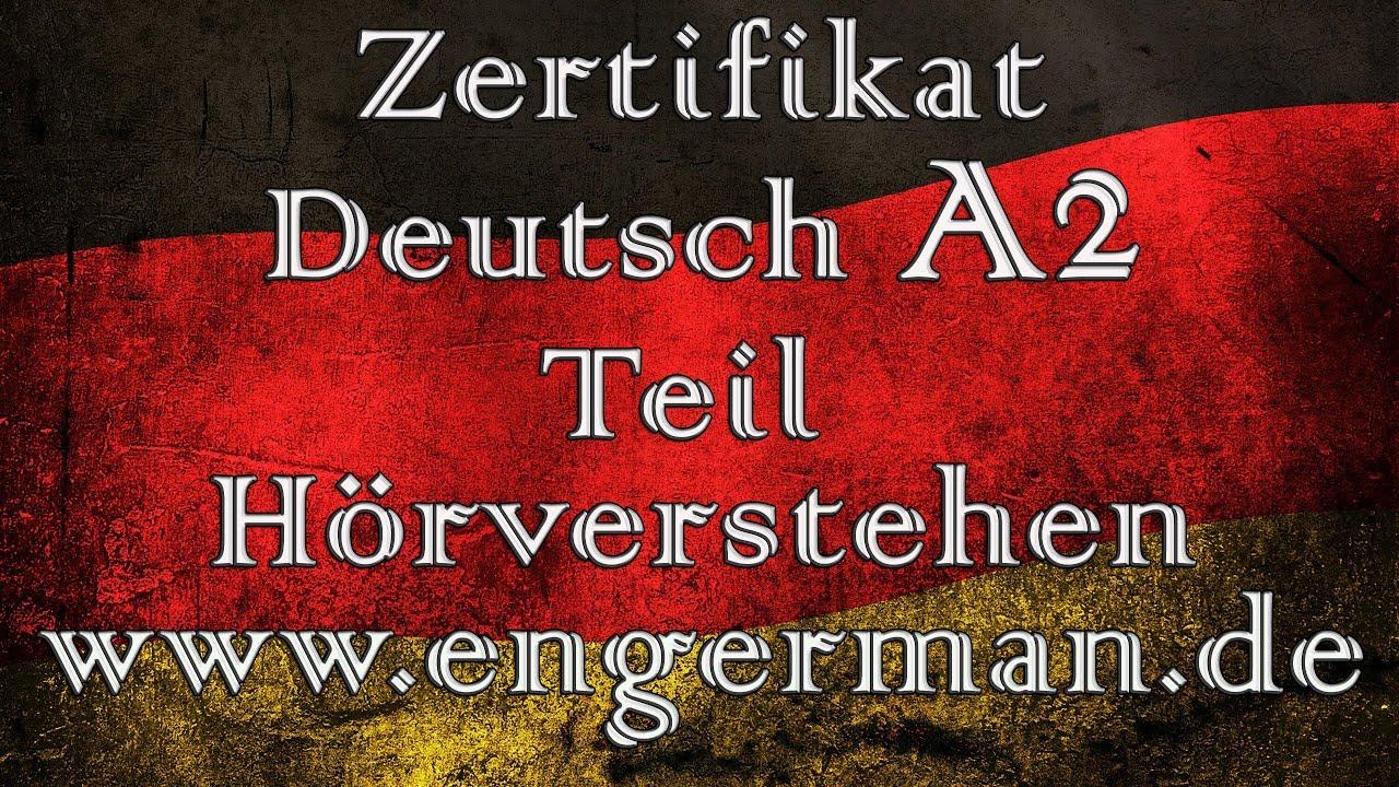 Zertifikat Deutsch A2 Start Deutsch A2 Modelltest 1 Youtube
