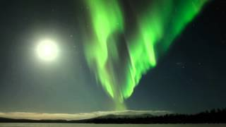One night in Finnish Lapland with northern lights.