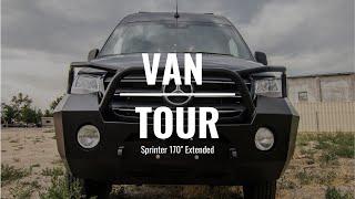 """VAN TOUR   Mercedes Sprinter 4x4 170"""" Extended, High Roof Custom Camper Van Build   Rossmönster Vans"""
