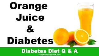 Orange Juice Good Diabetes