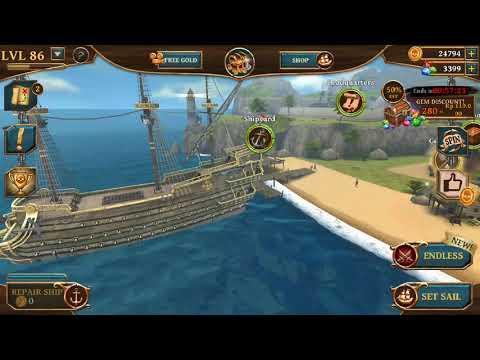 Lawan Legendary ship 😭😭😭 Ship Of Battle : Age Of Pirates
