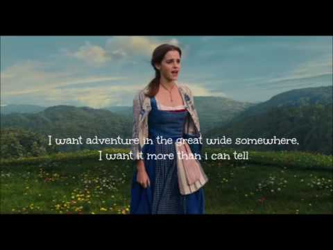Emma Watson Belle Reprise Beauty And The Beast Lyrics Youtube