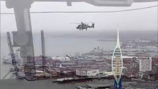 HMS Queen Elizabeth commissioned, flypast
