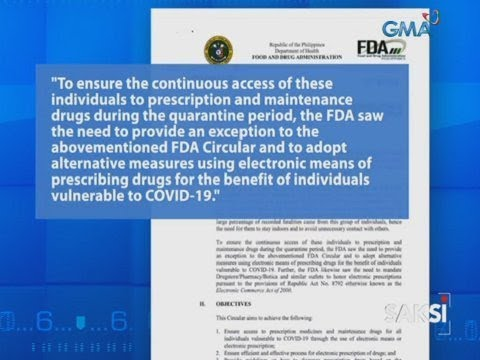 Saksi: FDA: Electronic prescription o E-reseta, maaari munang....