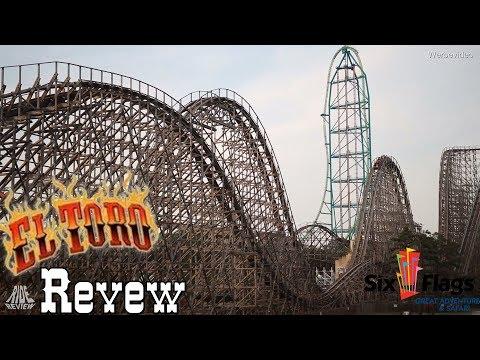 El Toro - Wilder Holzachterbahn Bulle - Six Flags Great Adventure - Ride Review