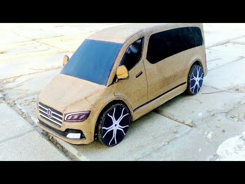 How To Make Car | Mercedes Van | Rc Diy Cardboard Toy For