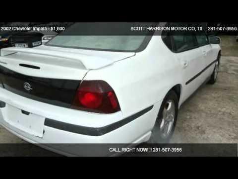 2002 chevrolet impala base for sale in houston tx 77038 for Scott harrison motors houston tx